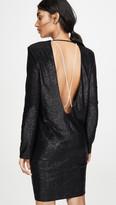 Mason by Michelle Mason Long Sleeve Mini Dress with Crystals