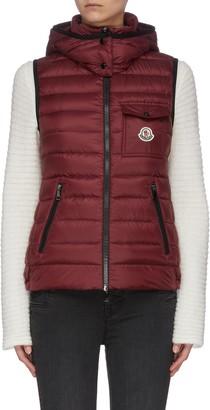 Moncler 'Glycine' hooded puffer zip-up vest