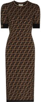 Thumbnail for your product : Fendi FF-logo knitted midi dress