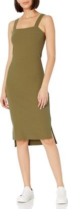 The Drop Women's Amelia Square Neck Strappy Bodycon Midi Tank Dress Dress