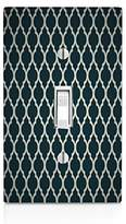 MWCustoms Black & Silver Quatrefoil Pattern Art Light Switch Plate