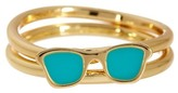 Ariella Collection Sunglasses Stack Ring Set - Size 7