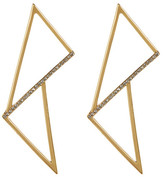 Botkier Accented Triangular Drop Stud Earrings
