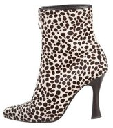 Casadei Ponyhair Pointed-Toe Booties