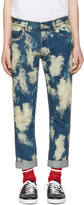 Gucci Blue Bleached Denim Punk Jeans