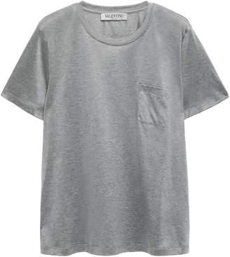 Valentino Melange Cotton-jersey T-shirt
