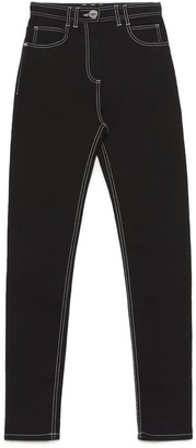 Balmain Monogram Embroidered Skinny Jeans