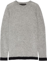 The Elder Statesman Five Picasso Two-tone Cashmere And Silk-blend Sweater - Light gray