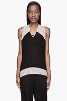 Helmut Lang Black semi-sheer silk and Viscose Jersey Top