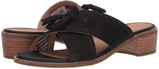 Sperry Seaport City Sandal Tassel Slide Leather (Black) Women's Shoes