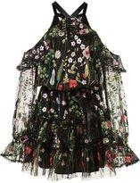 Alexis floral print cold-shoulder dress