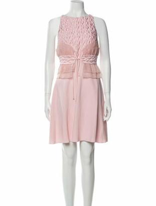 Giamba Bateau Neckline Mini Dress w/ Tags Pink