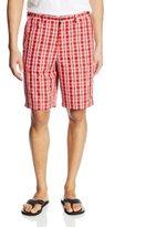 Haggar Men's Cool 18 Plaid Hidden Expandable Waist Short