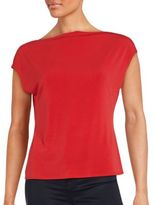 T Tahari Tamera Poppy Knit Top