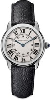 Cartier Ronde de Solo Stainless Steel & Black Leather-Strap Watch/29MM