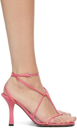 Bottega Veneta Pink Strappy Sandals