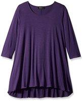 Karen Kane Women's Plus-Size 3/4 Sleeve Hi-Lo Tunic