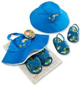 Baby Aspen Tropical Beach Hat and Flip Flop Gift Set