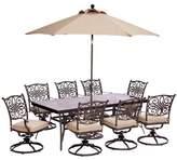 Fleur De Lis Living Carleton 9 Piece Oil Rubbed Bronze Metal Dining Set with Cushions Fleur De Lis Living