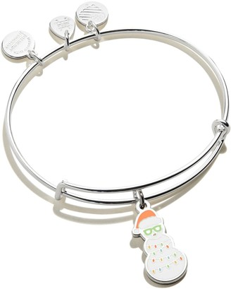 Alex and Ani Color Infusion Holiday Snowman Bangle Bracelet