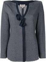 Armani Collezioni fitted jacket - women - Cotton/Polyamide/Spandex/Elastane/Viscose - 44