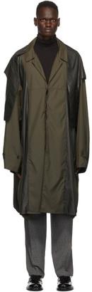 Ambush Khaki Oversized Poncho Coat