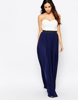 Rare Bandeau Maxi Dress With Contrast Skirt
