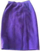 Chanel Purple Wool Skirt for Women Vintage