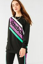 Reebok Black Crew-Neck Pullover Sweatshirt