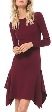 MICHAEL Michael Kors Ribbed Handkerchief Hem Dress