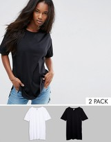 Asos Ultimate Easy Boyfriend T-Shirt 2 Pack