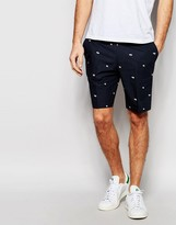 Asos Skinny Tailored Shorts In Floral Print