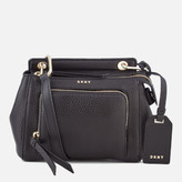 DKNY Women's Pebble Leather Mini Top Handle Cross Body Bag - Black