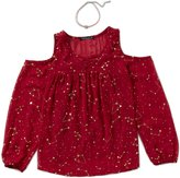 Xtraordinary Big Girls 7-16 Cold-Shoulder Foiled Top