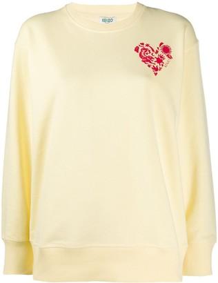 Kenzo Heart Crest-Print Sweatshirt