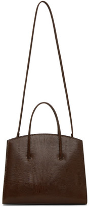 Little Liffner Brown Lizard Mini Minimal Bag