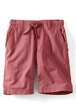 Classic Boys Husky Pull-on Beach Shorts-Blue Seersucker Stripe