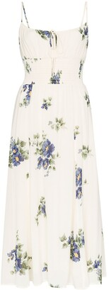 Reformation Macadamia floral-print midi dress