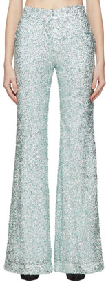 Halpern Green Sequin Stovepipe Trousers