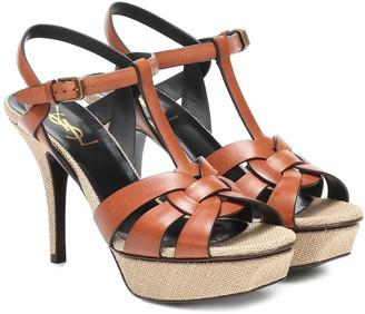 Saint Laurent Classic Tribute 75 leather plateau sandals