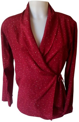 Basile Red Silk Top for Women