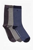 French Connection Magnus Mini Stripe 3 Pack Socks