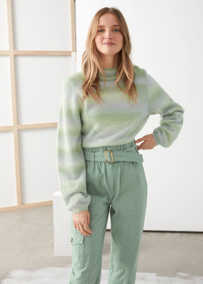 And other stories Space Dye Mock Neck Sweater