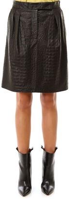 Max Mara Embossed A-Line Skirt