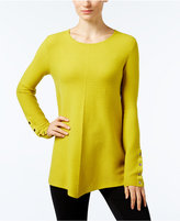 Alfani Petite Ribbed Swing Sweater, Only at Macy's