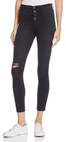 Nobody Cult Distressed Skinny Ankle Jeans in Tempted