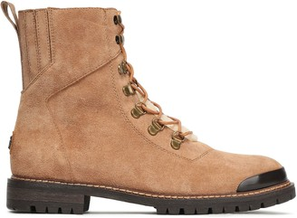 Australia Luxe Collective Shearling-trimmed Suede Ankle Boots