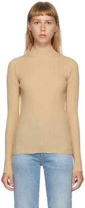 Acne Studios Beige Rib Knit Turtleneck