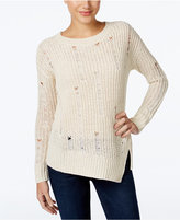 Calvin Klein Jeans Distressed Asymmetrical Sweater