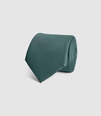 Reiss Aiden - Silk Tie in Green